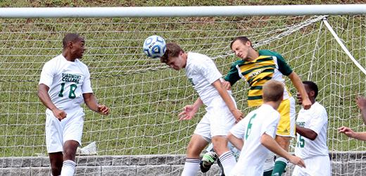 Men's soccer posts first conference win