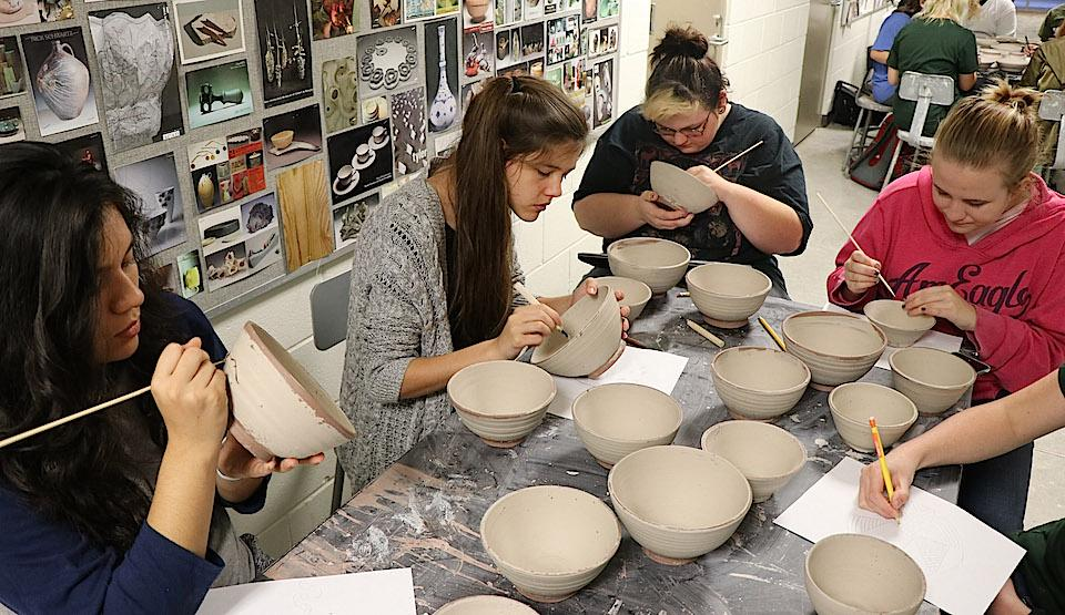 Empty Bowls: Freshman Hands Serve Up Handmade Bowls and Hot Soup