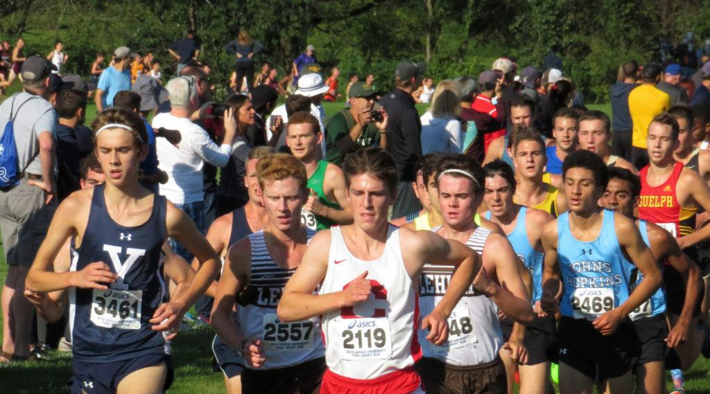Start to the five mile run in the Paul Short invitational in Bethlehem Pennsylvania. PHOTO / BRYCE GRIGGS