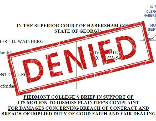 Court Denies Several Motions of Dismissal in Wainberg Lawsuit