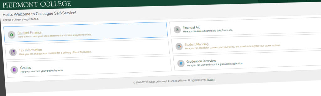 Piedmont Introduces New Student Planning Website