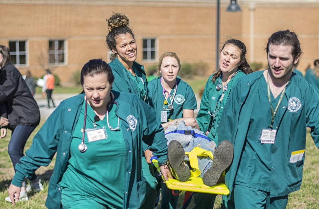 Nursing students face difficult decisions in annual disaster drill