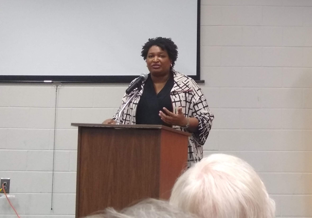 Stacy+Abrams+Comes+to+Clarkesville+for+Fair+Fight+2020