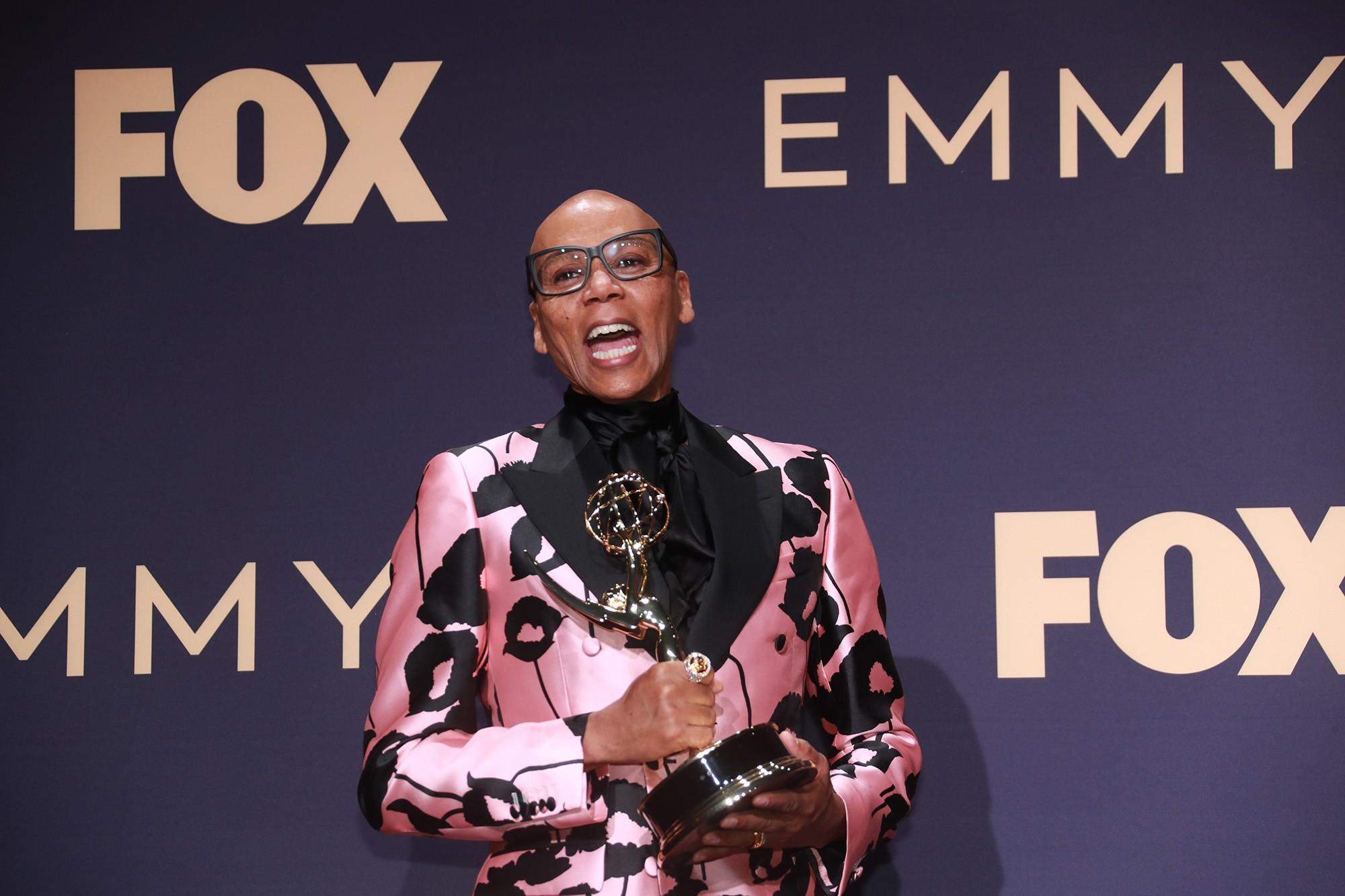 RuPaul backstage at the 71st Primetime Emmy Awards at the Microsoft Theater in Los Angeles on Sunday, Sept. 22, 2019. (Allen J. Schaben/Los Angeles Times/TNS)
