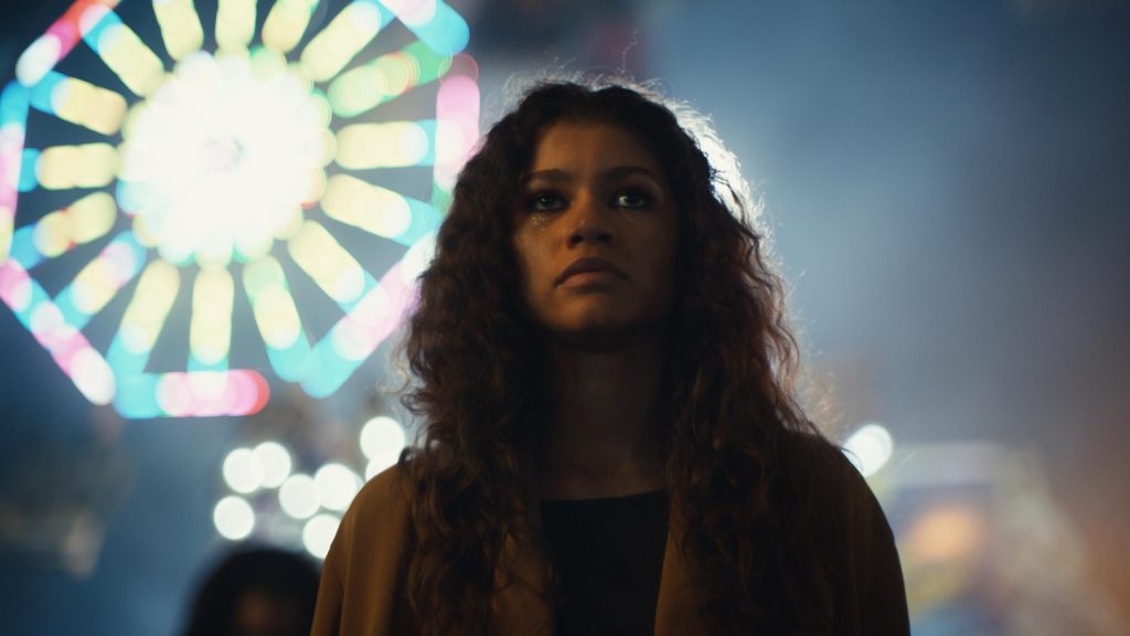 Zendaya+in+a+scene+from+%22Euphoria.%22