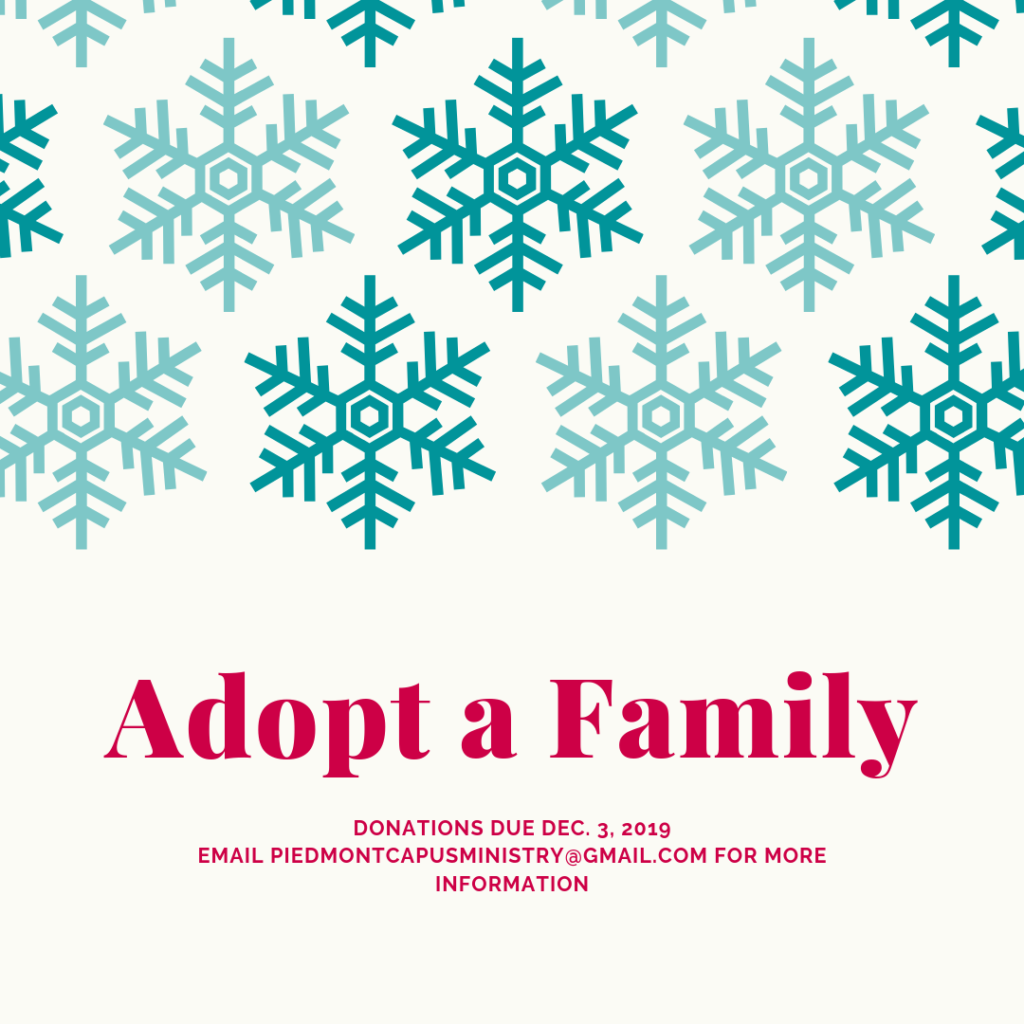 Campus Minister's Office Launches Annual Adopt a Family Program