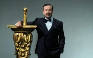 Ricky Gervais will host the Golden Globe Awards, 8 p.m. Sunday on NBC.