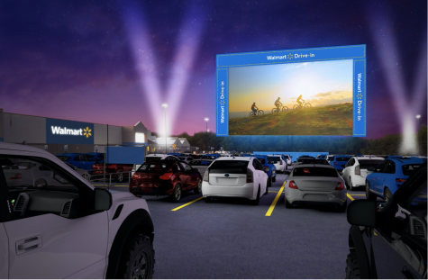 Walmart Drive in movies hope to bring crowds for safe entertainment with social distancing // Photo from corporate.walmart.com