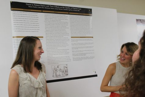 Piedmont students present their research at the first ever Piedmont Symposium in 2019.
