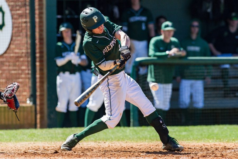One of the two fifth year seniors on this year's team, Zach Swindell, takes a swing during the 2020 season. Swindell looks to bring leadership, high character and quality at bats in 2021.  Photo Courtesy of Zach Swindell