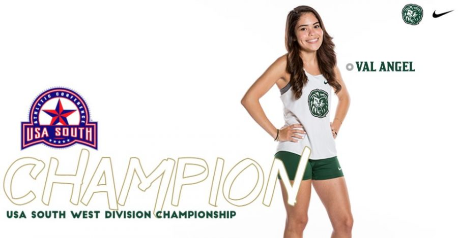 Junior Val Angel was able to win the 6K and claim the individual victory of the 2020-21 USA South West Division Womens individual championship.  Angel finished 15 seconds ahead of second place.   Photo Courtesy of Piedmont T&F/XC Twitter Page