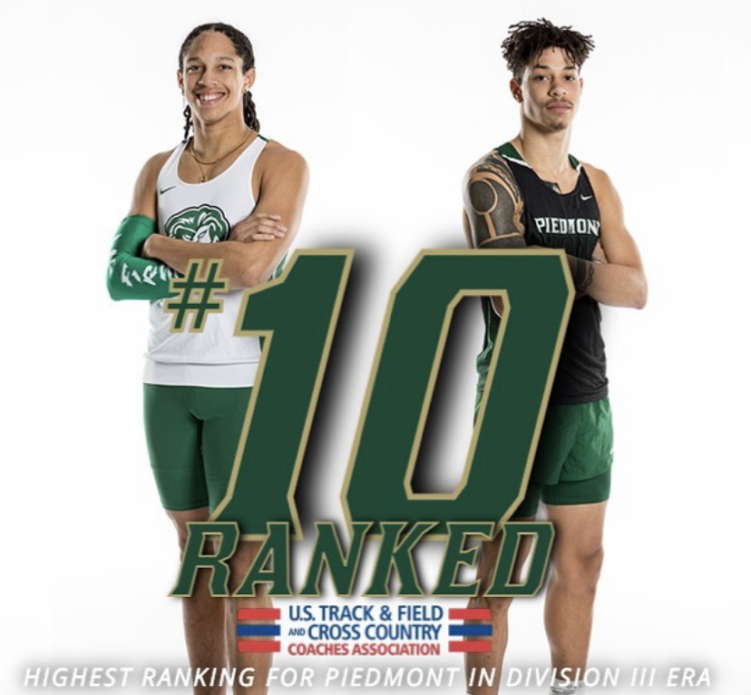 Mens Track and Field has been ranked top 10 for the first time in Piedmonts history.   Photo // piedmontlions via Instagram