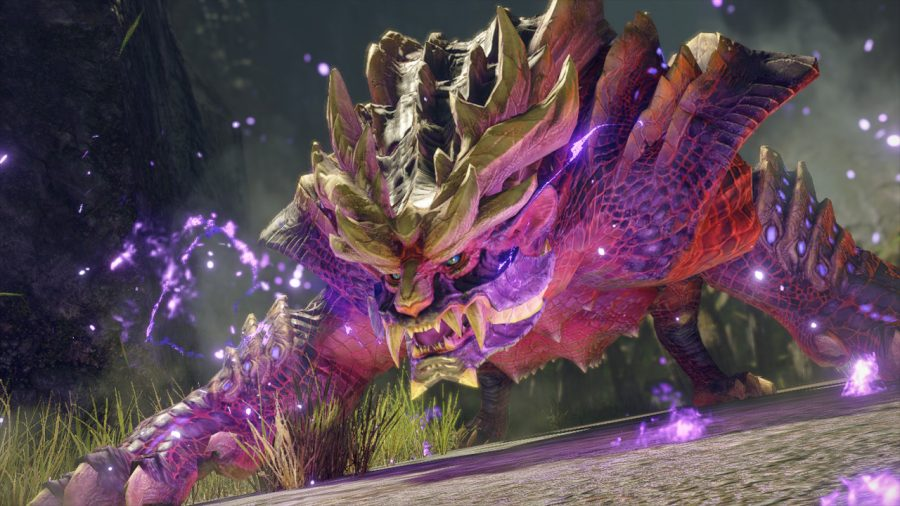 The flagship monster of Monster Hunter Rise preparing to engage in combat with the player. // PHOTO Courtesy of Polygon