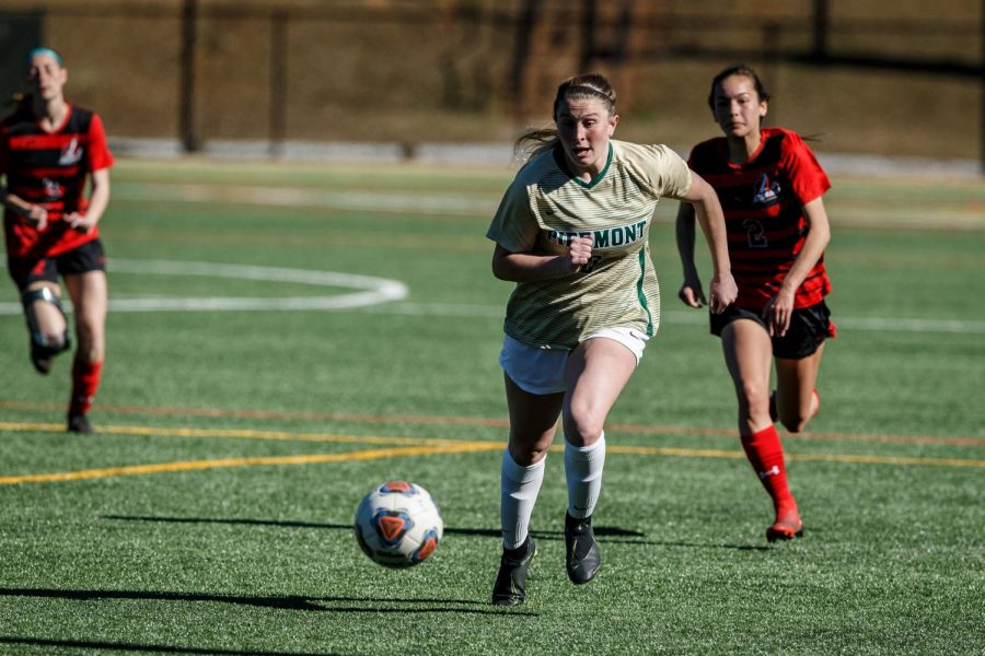 Junior forward Kaylee King is one of the key returners for the womens soccer team. PHOTO // KARL L. MOORE