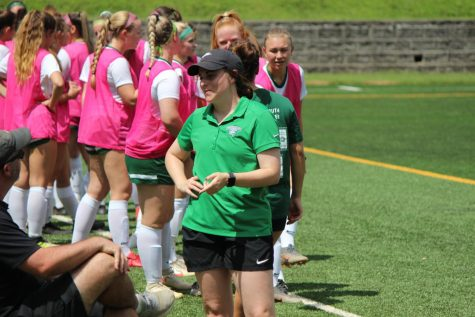 McCormack before the womens soccer game begins. // Photo Courtesy of Piedmont Womens Soccer