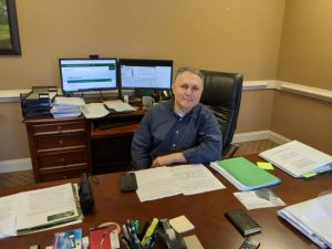 Senior Vice President of Academic Affairs and Provost Dan Silber in his office at the Demorest campus of Piedmont University. // Photo by Matt Kodrowski
