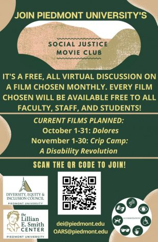 The Social Justice Movie Club chooses and highlights a different film each month. // Photo Courtesy of Caden Nelms.